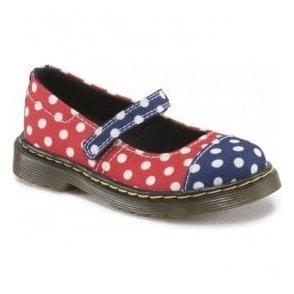 Infant Core Bairn Navy, Red & White Toe Cap Mary Jane 15837410