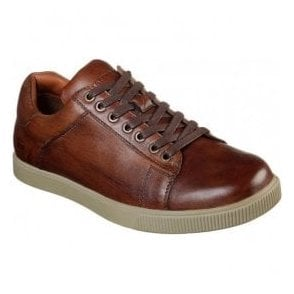 Mens Volden - Fandom Tan Leather Lace-Up Shoes 65323