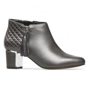 Womens Arial 3 Anthracite Leather Ankle Boots 2911920