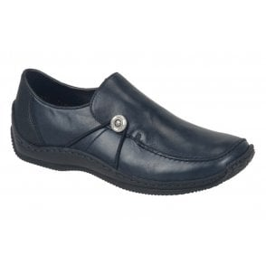 Womens Kame Black/Blue Casual Slip On Shoes L1781-16