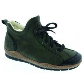 Womens Eagle Green Lace Up Ankle Boots L6912-00