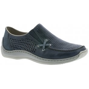 Womens Roy Navy Slip On Shoes L1767-13