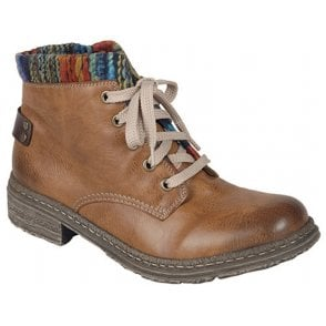 Womens Eagle Nutmeg Lace Up Ankle Boots 74214-24