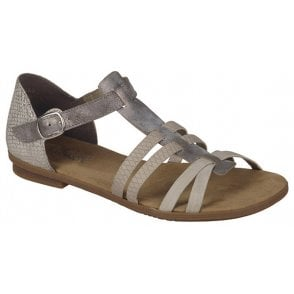 Womens Space Grey Buckle Up Sandals 64288-40