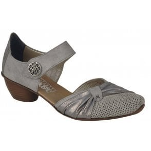 Womens Prestonbuk Bar Shoes In Grey Leather 43721-41
