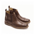 Anatomic Gel Mens Gustavo Coffee Touch Brogue Chelsea Boots
