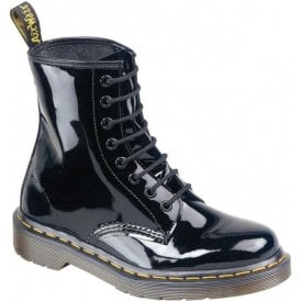 Womens Modern Classic Black Patent Boots 11821011