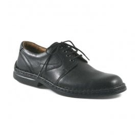 Mens Walt Black Leather Lace-Up Shoes 27204 23600