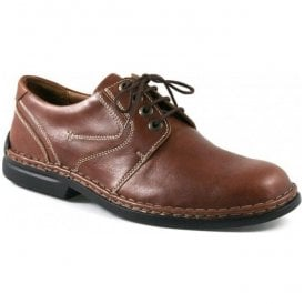 Mens Walt Brandy Leather Lace-Up Shoes 27204 43 300