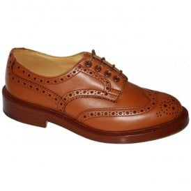 Mens Keswick 5 Fitting Tan Gorse Calf full Brogue Shoes