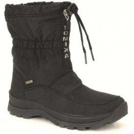 Womens Alaska 118 Black Waterproof Zip Boots
