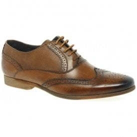 Mens Lagoon Tan Lace Up Oxford Brogue Shoes