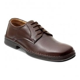 Mens Hamlet Brown Leather Lace Shoes
