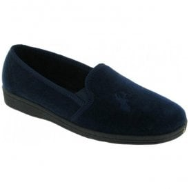 Mens Stag Navy Slippers