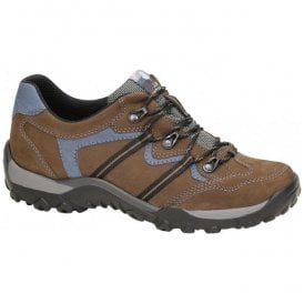 Womens Hilvi Brown/Blue Waterproof Walking Shoes
