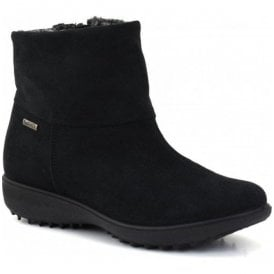 Womens Nadja 101 Black Suede Ankle Boots