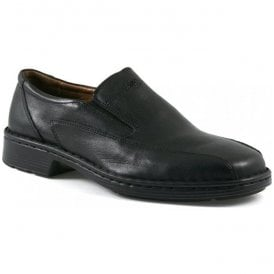 Mens Barker Black Leather Slip On Shoes