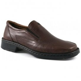 Mens Barker Brandy Leather Slip On Shoes