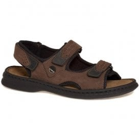 Mens Franklyn Brasil/Black Touch Fastening Casual Sandals