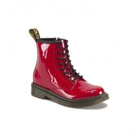 Delaney Red Patent Leather Junior Boots 15382602