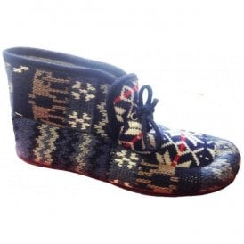 Womens Avening Navy Multi Colour Bootie Slippers