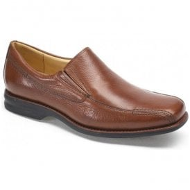 Mens Belem Tan Grained Leather Slip On Shoes