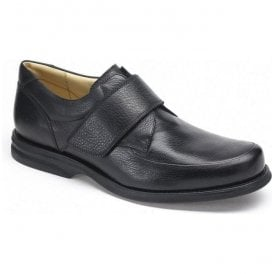 Mens Tapajos Black Leather Velcro Casual Shoes