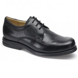Mens New Recife Black Leather Lace Up Shoes