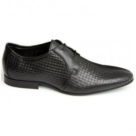 Mens The Weaver Black 2 Eyelet Derby Shoes