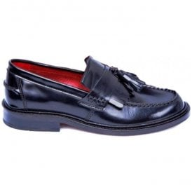 Unisex Rude Boy Black Fringed Tasseled Loafers