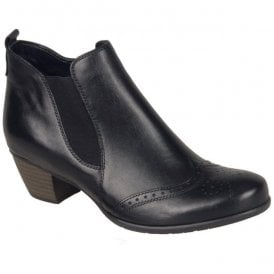 Womens Cristallin Black Heeled Ankle Boots R9187-01