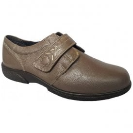 Womens Healey Seal Velcro Wide Fitting Shoes