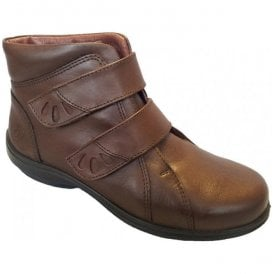 Womens Legacy Brown Leather Ankle Boots 78127B EE