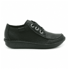 Womens Funny Dream Black Leather Casual Shoes