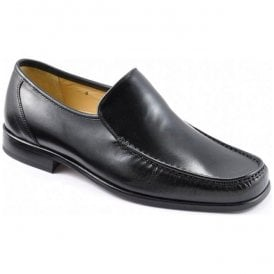 Mens Siena Moccasin Black Leather Shoes