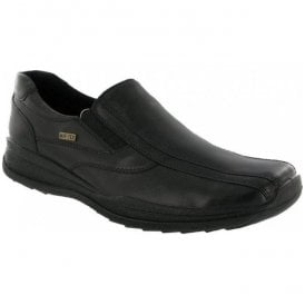 Mens Naunton Black Waterproof Slip On Casual Shoes