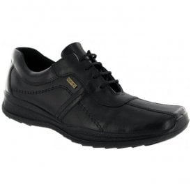 Mens Cam Black Leather Lace Up Shoes