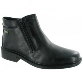 Mens Kelmscott Black Zip Ankle Boots