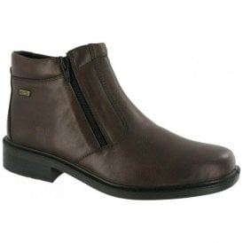 Mens Kelmscott Brown Zip Ankle Boots