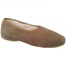 Womens Ellen Nut Slip On Suede Slippers