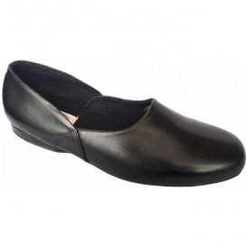 Mens John Black Traditional Slippers