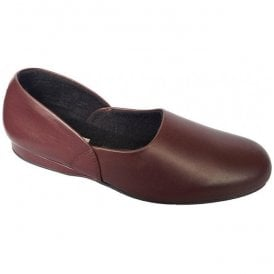 Mens John Wine Traditional Slippers