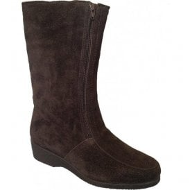 Womens Ambleside Brown Suede Boots Water Resistant
