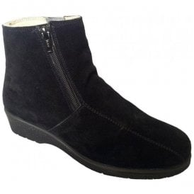 Womens Cambridge Black Suede Boots