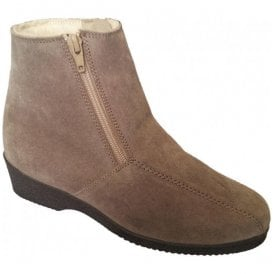 Womens Cambridge Taupe Suede Boots