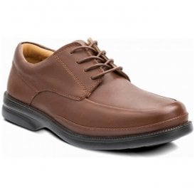 Mens Taxi Tan Lace Up Shoes