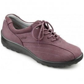 Womens Tone Soft Violet Nubuck Lace Shoes