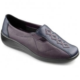 Womens Calypso Loganberry/Navy Leather Slip On Shoes