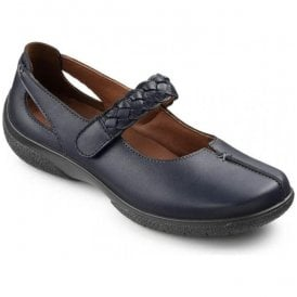Womens Shake Indigo Leather Strap Over Shoes