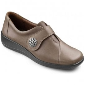Womens Collette Brown Velcro Strap Shoes